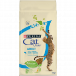 PURINA CAT CHOW Adult avec NaturiumTM - Riche en Saumon - 10 KG -