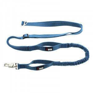 Laisse de traction « Canicross » I-DOG Bleu/Gris